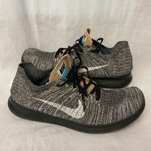 Nike Free RN Flyknit Mens Size 11.5 Running Shoes